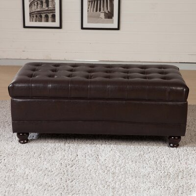 Dail Tufted Storage Ottoman Upholstery: Brown