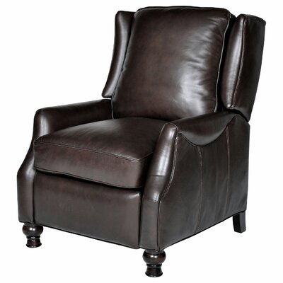 Ignatius Leather Wing Recliner Upholstery: Baron Chocolate