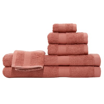 3 Piece Towel Set Color: Red Tangerine