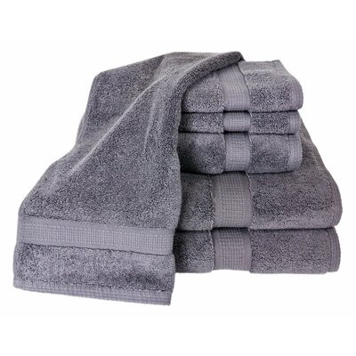 Bloomberg 6 Piece Bath Towel Set Color: Charcoal
