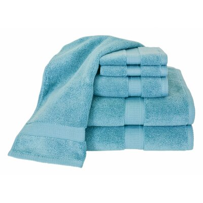 Bloomberg 6 Piece Bath Towel Set Color: Teal
