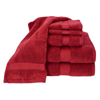 Bloomberg 6 Piece Bath Towel Set Color: Cranberry