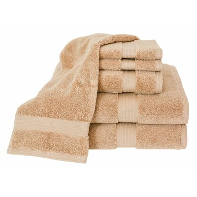 Bloomberg 6 Piece Bath Towel Set Color: Latte