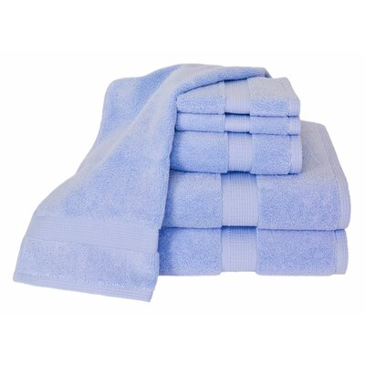 Bloomberg 6 Piece Bath Towel Set Color: Sky Blue