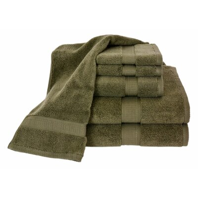 Bloomberg 6 Piece Bath Towel Set Color: Moss Green