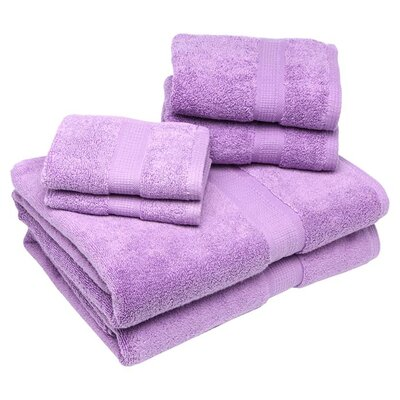 Bloomberg 6 Piece Bath Towel Set Color: Lilac