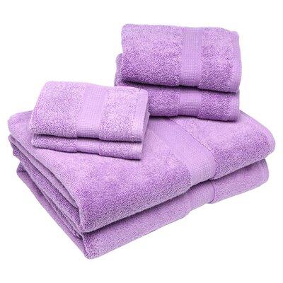 Bloomberg 6 Piece Bath Towel Set Color: Lilac