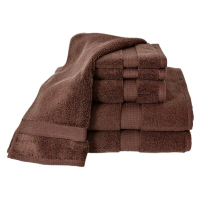 Bloomberg 6 Piece Bath Towel Set Color: Espresso