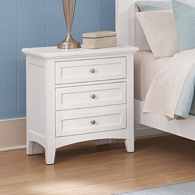 Gastelum 2 Drawer Night Stand Color: Soft White