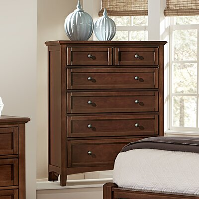 Gastelum 5 Drawer Chest Color: Warm Cherry