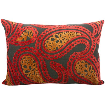 Malick Velvet Lumbar Pillow Color: Atomic