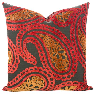 Malick Velvet Throw Pillow Color: Atomic