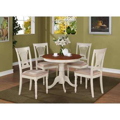 Wyatt 5 Piece Dining Set Chair Upholstery: Padded Seat