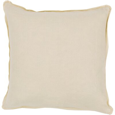 Matherne Linen Throw Pillow Size: 22, Color: Bright Yellow, Filler: Down