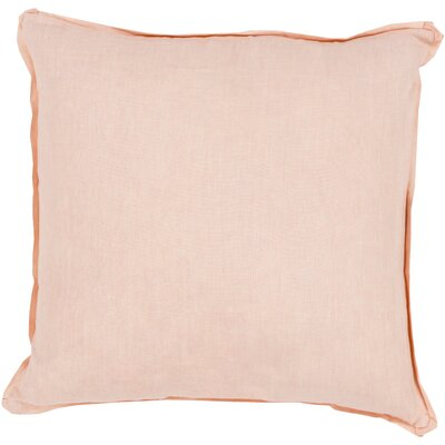 Matherne Linen Throw Pillow Size: 22, Color: Pink, Filler: Down