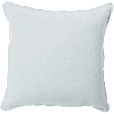 Matherne Linen Throw Pillow Size: 18, Color: Sea Foam, Filler: Down