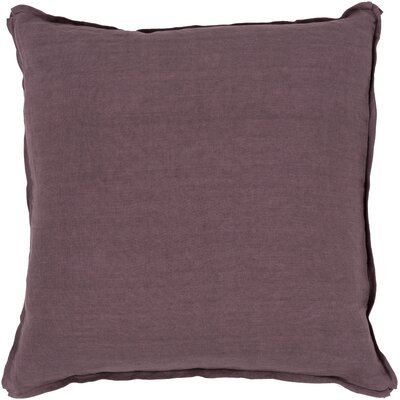 Matherne Linen Throw Pillow Size: 18, Color: Purple, Filler: Down