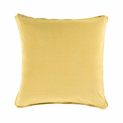 Matherne Linen Throw Pillow Size: 18, Color: Yellow, Filler: Down