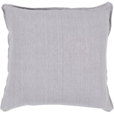 Matherne Linen Throw Pillow Size: 18, Color: Gray, Filler: Down