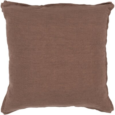 Matherne Linen Throw Pillow Size: 22, Color: Brown, Filler: Down