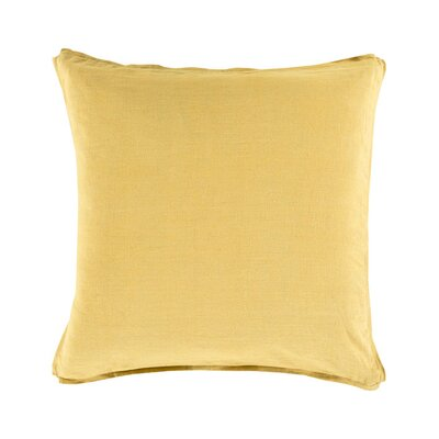Matherne Linen Throw Pillow Size: 18, Color: Yellow, Filler: Polyester