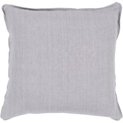 Matherne Linen Throw Pillow Size: 18, Color: Gray, Filler: Polyester