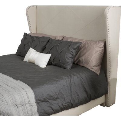 Mariel Upholstered Wingback Headboard Size: Full