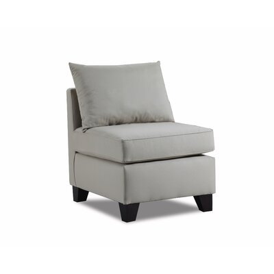 Adelina Slipper Chair Upholstery: Light Slate