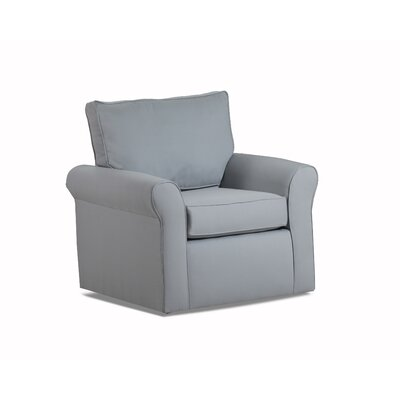 Adelina Swivel Armchair Color: Light Slate