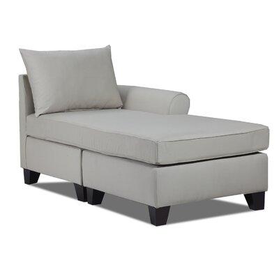 Adelina Left Chaise Lounge Upholstery: Light Slate