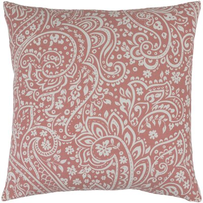 Hoyleton Cotton Throw Pillow Size: 22 H x 22 W x 4 D, Color: Coral/Ivory
