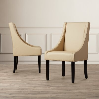 Flossmoor Side Chair (Set of 2) Upholstery: Bicast Leather - Cream