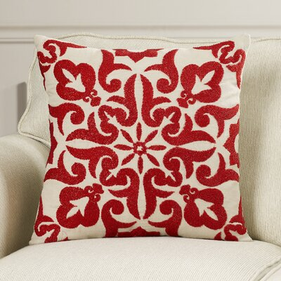 Trembley Linen Throw Pillow Color: Red
