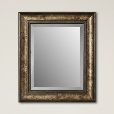 Framed Beveled Plate Glass Mirror Size: Small