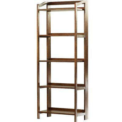 Troy 60.25 Etagere Bookcase Finish: Warm Brown