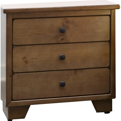 Loughran 3 Drawer Nightstand Color: Dune