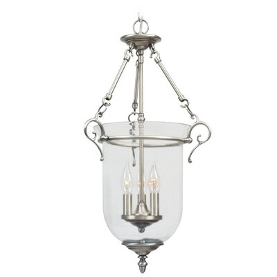 Sackler Foyer Pendant Size: 33 H x 20 W x 20 D, Finish: Brushed Nickel