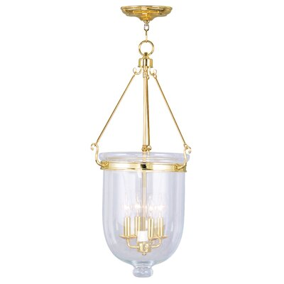 Lauder Foyer Pendant Size: 30 H x 14 W x 14 D, Finish: Polished Brass
