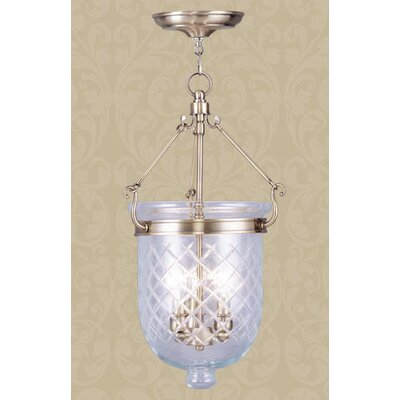 Lauder Foyer Pendant Size: 25 H x 10 W x 10 D, Finish: Brushed Nickel