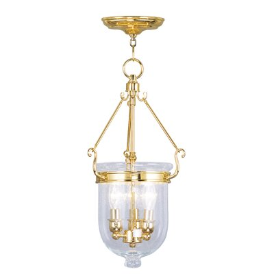 Lauder Foyer Pendant Size: 25 H x 12 W x 12 D, Finish: Polished Brass