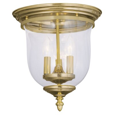 Sackler Flush Mount Finish: Polished Brass