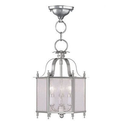 Sackler 3-Light Foyer Pendant Finish: Brushed Nickel