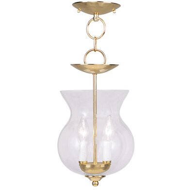Sackler 2-Light Foyer Pendant Finish: Polished Brass