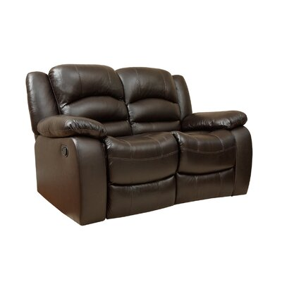 Darby Home Co DBHC6879 27934191 Jorgensen Italian Leather Reclining Loveseat