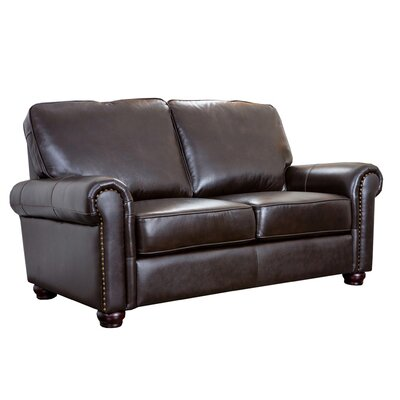 Darby Home Co DBHC6885 27934196 Coggins Leather Loveseat