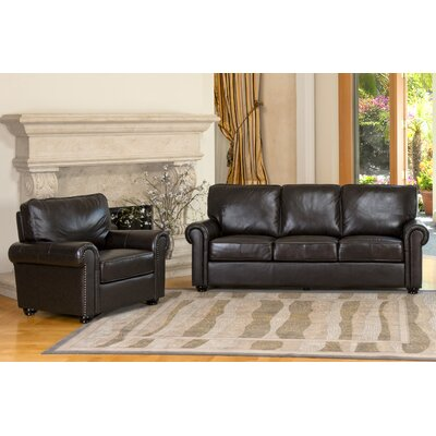 Coggins Leather Sofa and Chair Set