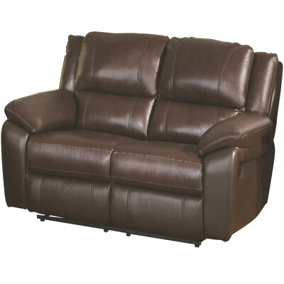 Baxter Reclining Loveseat Upholstery: Brown