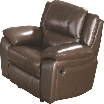Baxter Leather Recliner Upholstery: Brown