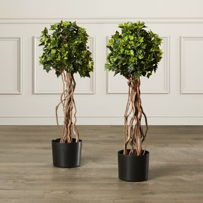 Artificial English Ivy Topiary Tree in Pot