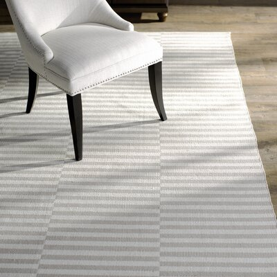 Orwell Hand-Woven Cotton Ivory/Light Gray Area Rug Rug Size: Rectangle 2 x 5